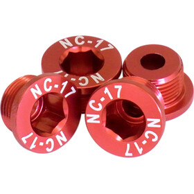 NC-17 4 Chainring Screws T6 4 hole SRAM M10 red